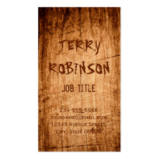 Western Rustic Scratched Wood Grain Cool Stylish Pack Of Standard Business Cards