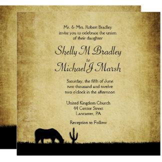 Western Rustic Wedding Invitation