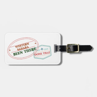Western Sahara Been There Done That Luggage Tag
