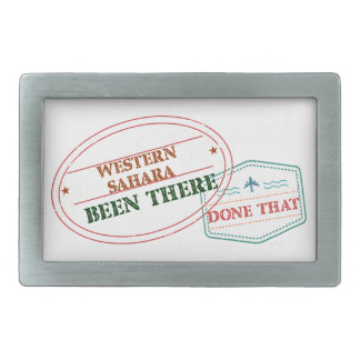 Western Sahara Been There Done That Rectangular Belt Buckle