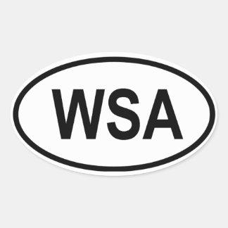 "Western Sahara ""WSA"" Oval Stickers"