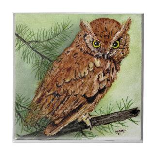 Western Screech Owl Tile