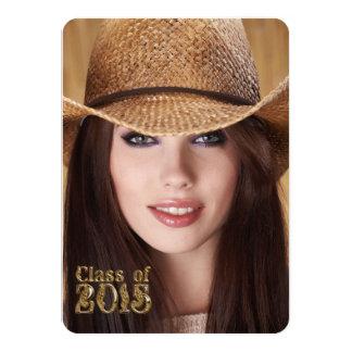 Western Script Class of 2015 Graduation Card