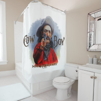 Western Shower Curtain Cowboy Hits the Mark