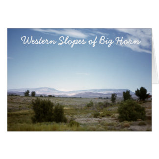 Western Slopes of Big Horn Postcard