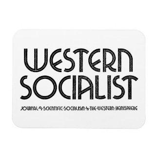 Western Socialist white magnet