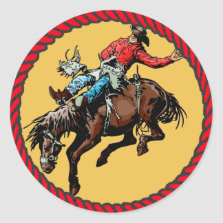 Western Sticker Rodeo Bronc Rider