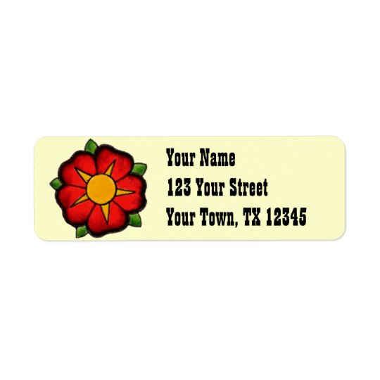Western Style Address Labels