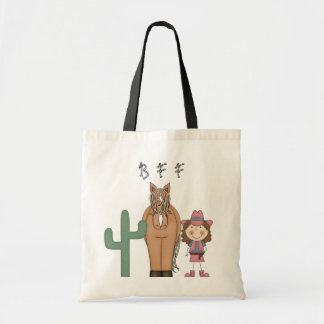 Western Style Cowgirl Horse Fun Toy Tote Bag