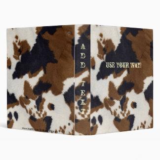 Western Style Cowhide Print Notebook Binder