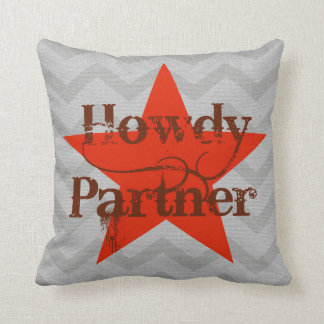Western Style Pillow | Howdy Partner