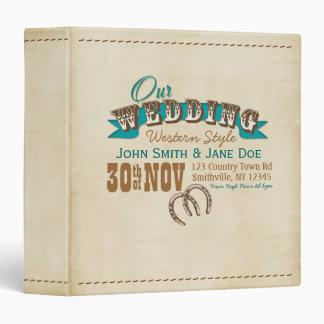 Western Style Wedding Planner or Album 3 Ring Binders