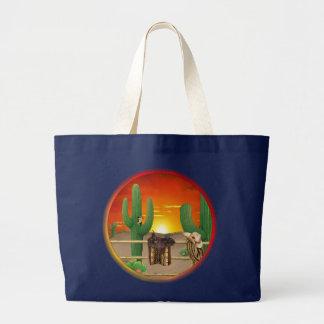 Western Sunrise Large Tote Bag