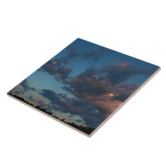 Western Sunrise Sky and Clouds Summer 2016 Tile