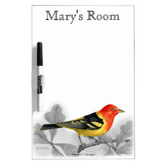 Western Tanager Dry Erase Board