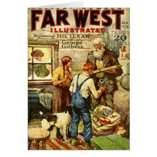 Western-theme 1928 Christmas Card