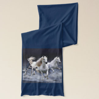 Western Theme Mystic Horses Scarf Two-Tone