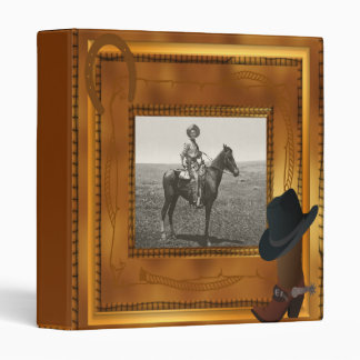 Western Theme with Boot & Hat Photo Template Vinyl Binder