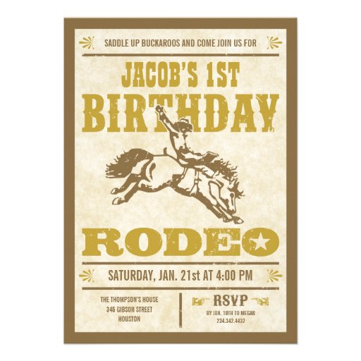 Western Themed Birthday Invitations