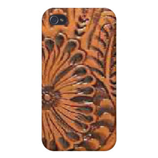 Western Tool Leather Print Speck Case for iPhone 4