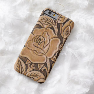 Western tooled leather  Floral Pattern Barely There iPhone 6 Case