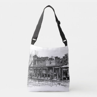 Western town all over print bag
