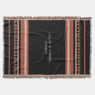 Western Triangle Pattern Throw Blanket