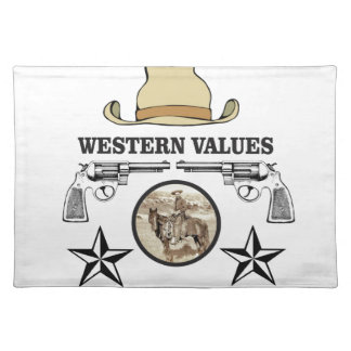 western value art placemat