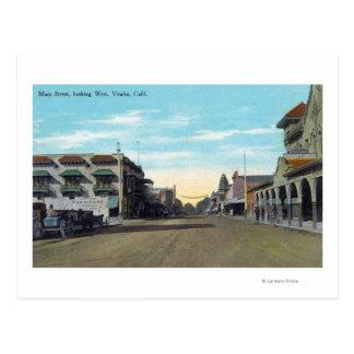 Western View from Main StreetVisalia, CA 2 Postcard