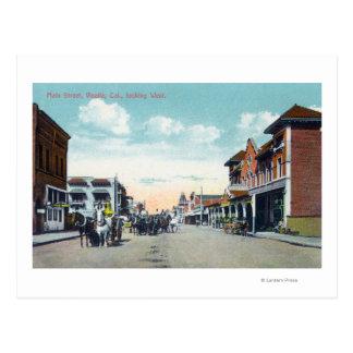 Western View from Main StreetVisalia, CA Postcard