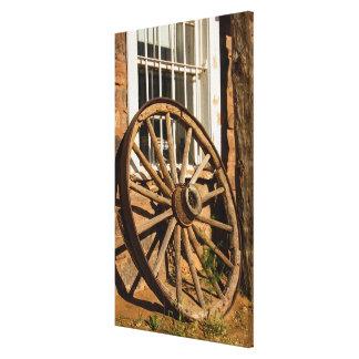 Western Wagon Wheel Canvas Print