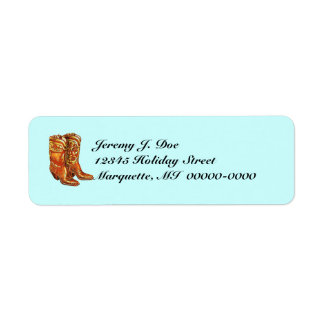 Western Wear Cowboy Cowgirl Boots Address Labels