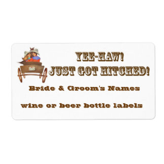 Western Wedding Reception Wine Beer bottle labels