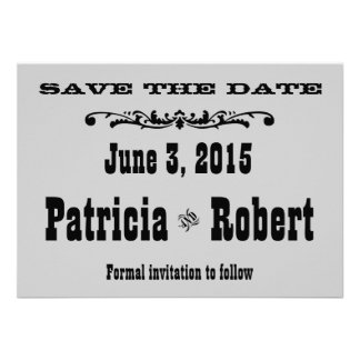Western Wedding Save the Date Personalized Invitations