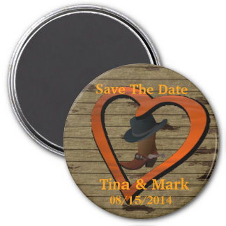 Western Wedding Save The DATE Magnet