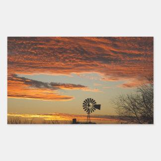 Western Windmill Sunset