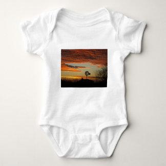 Western Windmill Sunset Baby Bodysuit