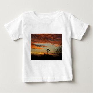 Western Windmill Sunset Baby T-Shirt