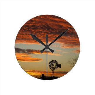 Western Windmill Sunset Clocks