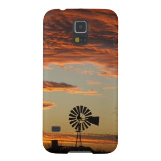 Western Windmill Sunset Galaxy S5 Cases