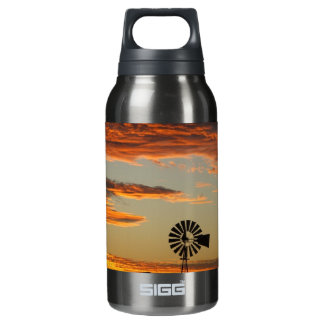 Western Windmill Sunset Insulated Water Bottle