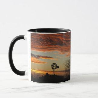 Western Windmill Sunset Mug