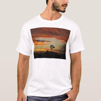 Western Windmill Sunset T-Shirt