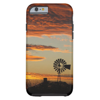 Western Windmill Sunset Tough iPhone 6 Case