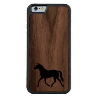 Western wood carved walnut iPhone 6 bumper case