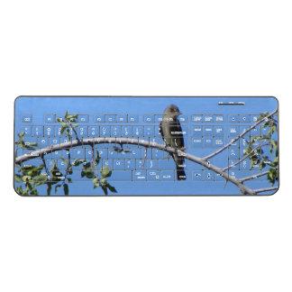 Western Wood-Pewee in a Tree Wireless Keyboard