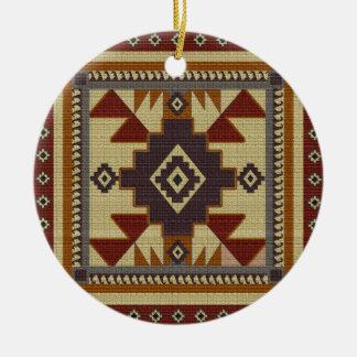 Western Woven Ceramic Ornament