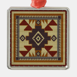 Western Woven Metal Ornament