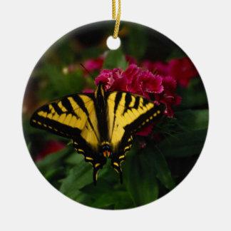 Western Yellow Swallowtail Ceramic Ornament