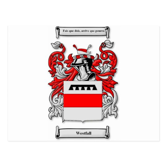 Westfall Coat of Arms Postcard